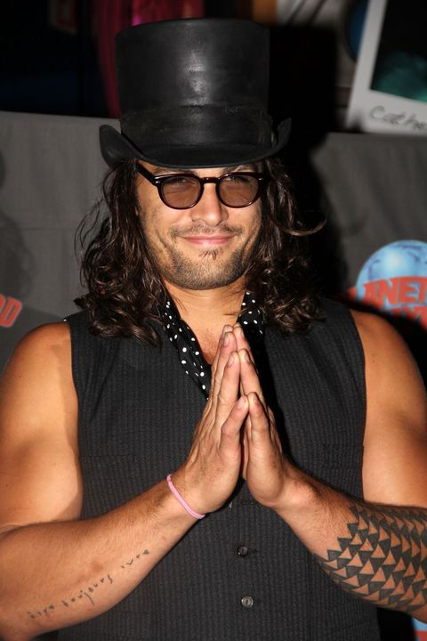 Jason Momoa Visits Planet Hollywood - August 18, 2011