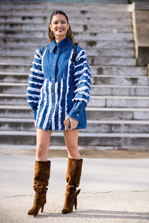 Blue, Clothing, Street fashion, Cobalt blue, Electric blue, Footwear, Fashion, Boot, Beauty, Outerwear,