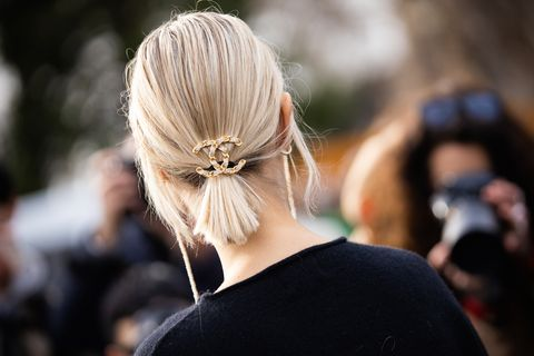 Hairstyle, Earrings, Style, Camera, Blond, Photographer, Long hair, Street fashion, Hair accessory, Digital camera,