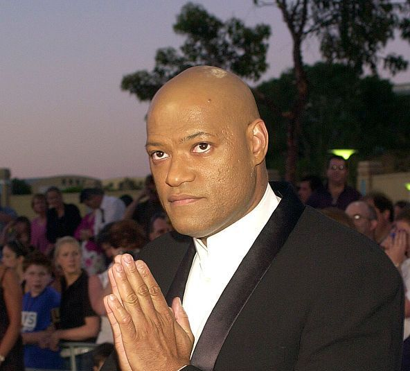 Laurence Fishburne (head that's bare) Here he is.