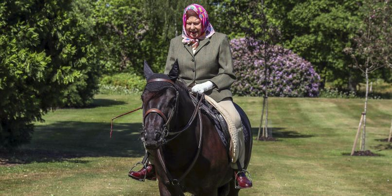 The Queen Was Photographed Riding Her Pony At Windsor Castle