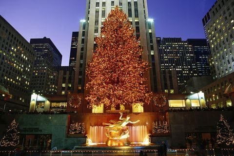 Rockefeller Center X-mas night, NYC, NY