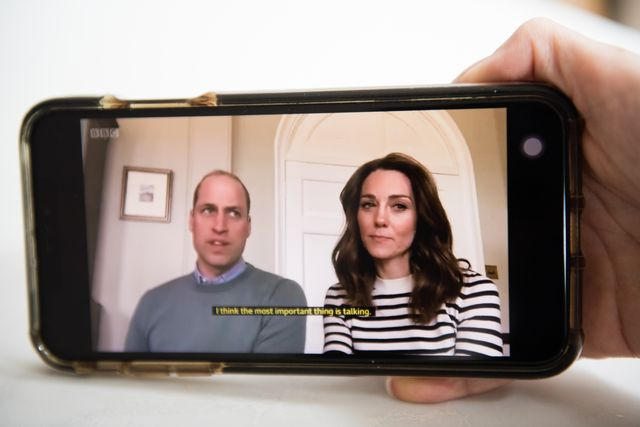 london, england   april 17 in this photo illustration prince william, duke of cambridge and catherine, duchess of cambridge have an  broadcast interview on bbc breakfast regarding coping with the coronavirus on april 17, 2020 in london, england photo by samir husseinwireimage