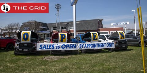 white bear lake, minnesota, a car dealership offers appointment only car sales after the coronavirus pandemic shut down their showroom photo by michael silukeducation imagesuniversal images group via getty images