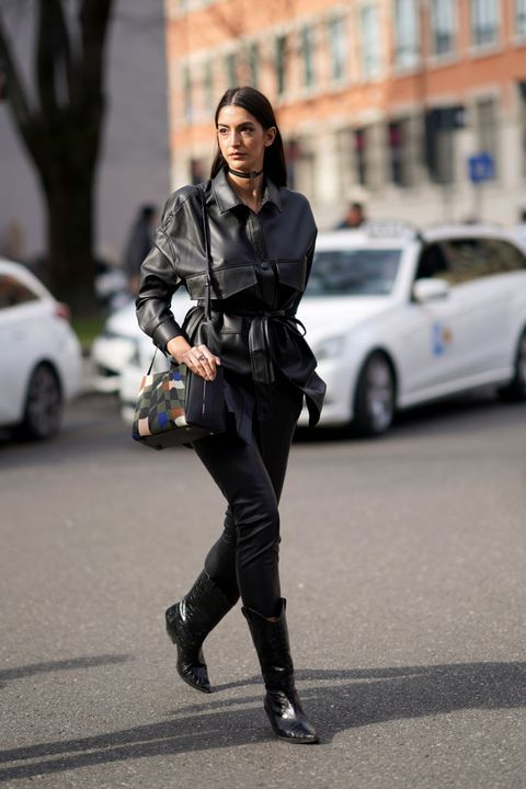 looks negros total black, vestido negro, chaqueta negra, abrigo negro, falda negra, zapatos negros, ideas looks negros