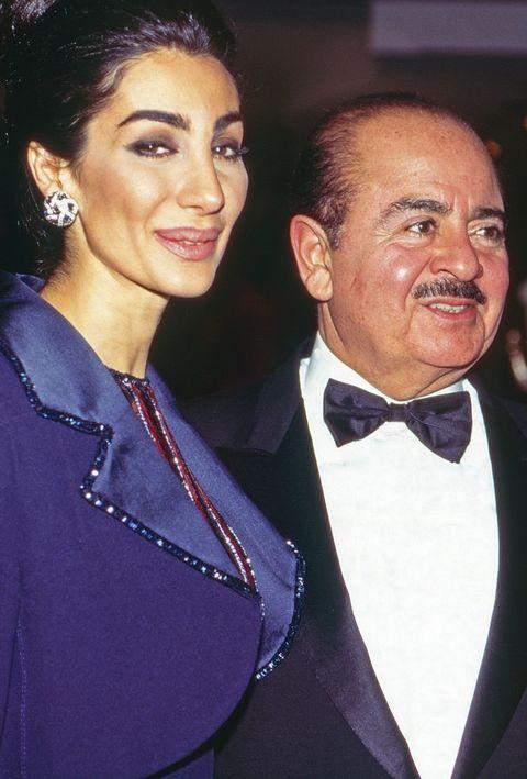 adnan khashoggi with wife soraya at unesco gala in neuss, germany, 1996 photo by wolfgang kuhnunited archives via getty images