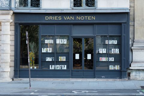 paris, france   may 15 general view of the dries van noten store at quai malaquais on may 15, 2020 in paris, france the coronavirus covid 19 pandemic has spread to many countries across the world, claiming over 280,000 lives and infecting over 4 million people photo by edward berthelotgetty images