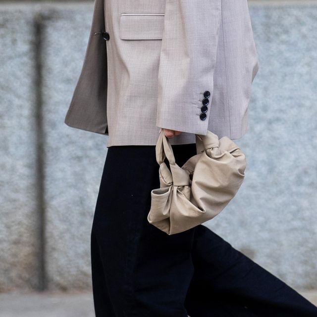 berlin, germany   may 18 anais eleni is seen grey blazer filippa k, black pants arket, manolo blahnik heels, the row bag on may 18, 2020 in berlin, germany photo by christian vieriggetty images