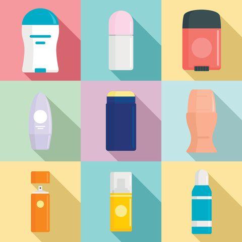 deodorant icons set flat set of deodorant vector icons for web design