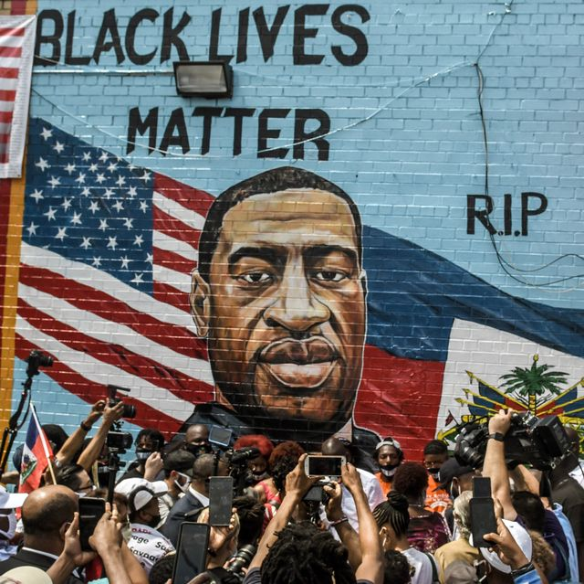 new york, ny   july 13 a mural painted by artist kenny altidor depicting george floyd is unveiled on a sidewall of ctown supermarket on july 13, 2020 in the brooklyn borough new york city george floyd was killed by a white police officer in minneapolis and his death has sparked a national reckoning about race and policing in the united states  photo by stephanie keithgetty images