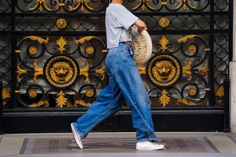 Denim, Jeans, Standing, Textile, Street fashion, Trousers, Cool, Footwear, Photography, Shoe,