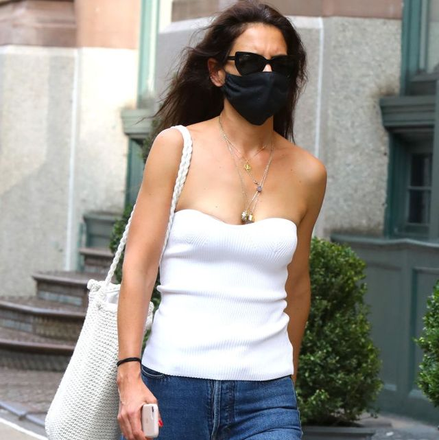 new york, ny   september 03 katie holmes is seen on september 03, 2020 in new york city  photo by jose perezbauer griffingc images