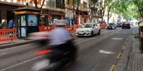 11 september 2020, spain, palma cars drive on a road in the son gotleu district due to high corona numbers, the regional government of the balearic islands has ordered the closure of the residential area in the city of palma the 23,000 or so people affected in the son gotleu working class neighbourhood and in some adjacent streets will only be allowed to leave their residential area after 10 pm to go to work, to see a doctor or hospital, to go to school or other educational establishment or to look after those in need of care photo clara margaisdpa photo by clara margaispicture alliance via getty images