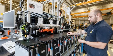 23 september 2020, hamburg, norderstedt one employee manufactures lithium ion block batteries at the jungheinrich plant in norderstedt photo markus scholzdpa photo by markus scholzpicture alliance via getty images