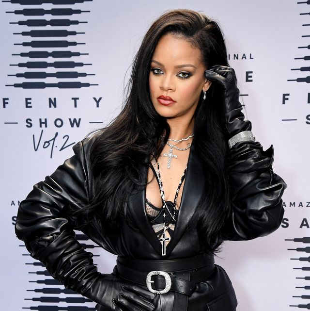 los angeles, california   october 1 in this image released on october 1, rihanna attends the second press day for rihannas savage x fenty show vol 2 presented by amazon prime video at the los angeles convention center in los angeles, california and broadcast on october 2, 2020  photo by kevin mazurgetty images for savage x fenty show vol 2 presented by amazon prime video