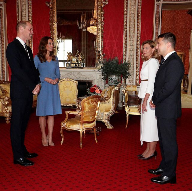 britains prince william, duke of cambridge l, his wife britains catherine, duchess of cambridge 2l talk with ukraines president volodymyr zelensky r and his wife olena, during an audience at buckingham palace in central london on october 7, 2020 photo by jonathan brady  pool  afp photo by jonathan bradypoolafp via getty images