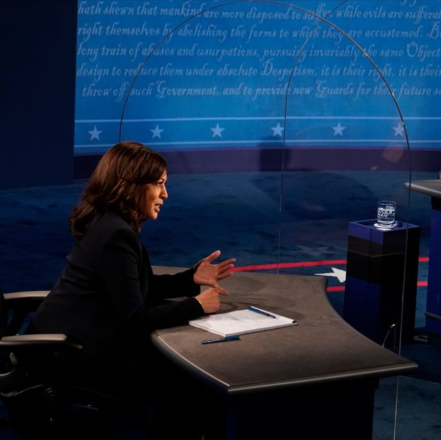 salt lake city, utah   october 07 democratic vice presidential nominee sen kamala harris d ca and us vice president mike pence participate in the vice presidential debate at the university of utah on october 7, 2020 in salt lake city, utah this is the only scheduled debate between the two before the general election on november 3 photo by morry gash poolgetty images