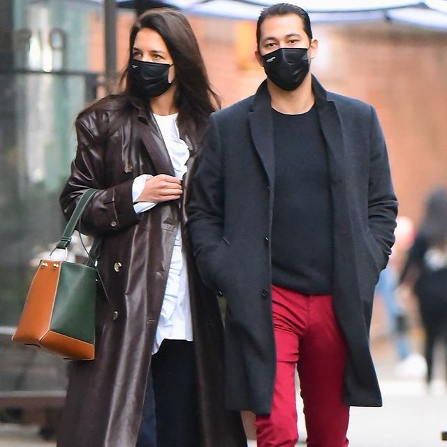 new york, ny   november 05  katie holmes and boyfriend emilio vitolo jr seen out and about in manhattan on  november 5, 2020 in new york city  photo by robert kamaugc images