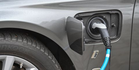 08 january 2021, brandenburg, potsdam a bmw electric vehicle is being charged at a charging station photo patrick pleuldpa zentralbildzb photo by patrick pleulpicture alliance via getty images