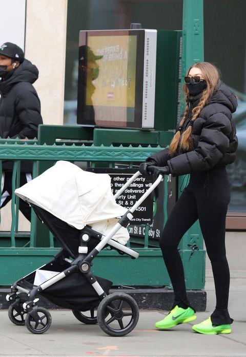 gigi hadid met dochter in new york