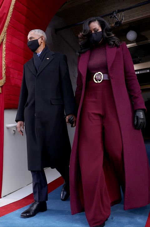 former president barack obama and his wife michelle are seen before us president elect joe biden is sworn in as the 46th us president on january 20, 2021, at the us capitol in washington, dc photo by jonathan ernst  pool  afp photo by jonathan ernstpoolafp via getty images