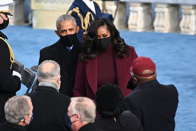 Michelle Obama Wears Bouncy Curls to Biden Inauguration 2021
