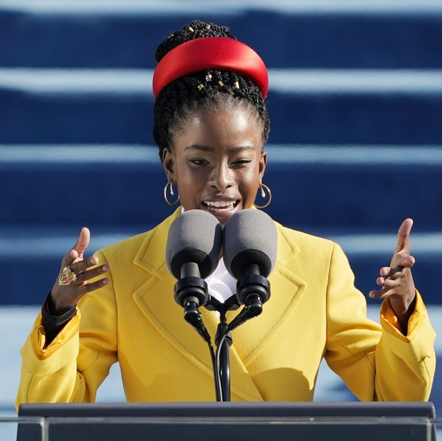 american poet amanda gorman reads a poem during the 59th presidential inauguration at the us capitol in washington dc on january 20, 2021 photo by patrick semansky  pool  afp photo by patrick semanskypoolafp via getty images