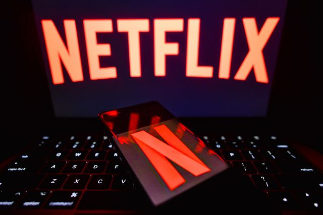 ireland   20210207 in this photo illustration the netflix logo seen displayed on a smartphone and on a computer screen photo illustration by cezary kowalskisopa imageslightrocket via getty images