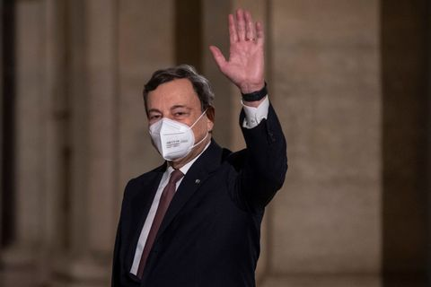 rome, italy   february 12 italian designated prime minister mario draghi leaves the quirinale palace following the presentation of his ministers list after being appointed by italian president sergio mattarella for the formation of a new government, on february 12, 2021 in rome, italy photo by antonio masiellogetty images