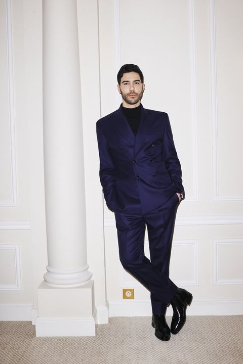 unspecified   february 28 in this handout provided by naj jamai, tahar rahim is seen prior to the 78th annual golden globe awards on february 28, 2021 photo by naj jamai via getty images