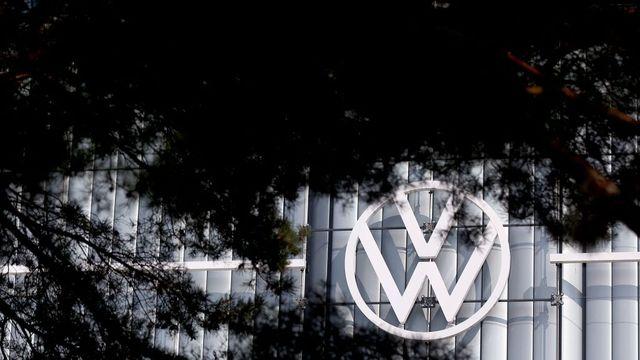 volkswagen logo outside of headquarters