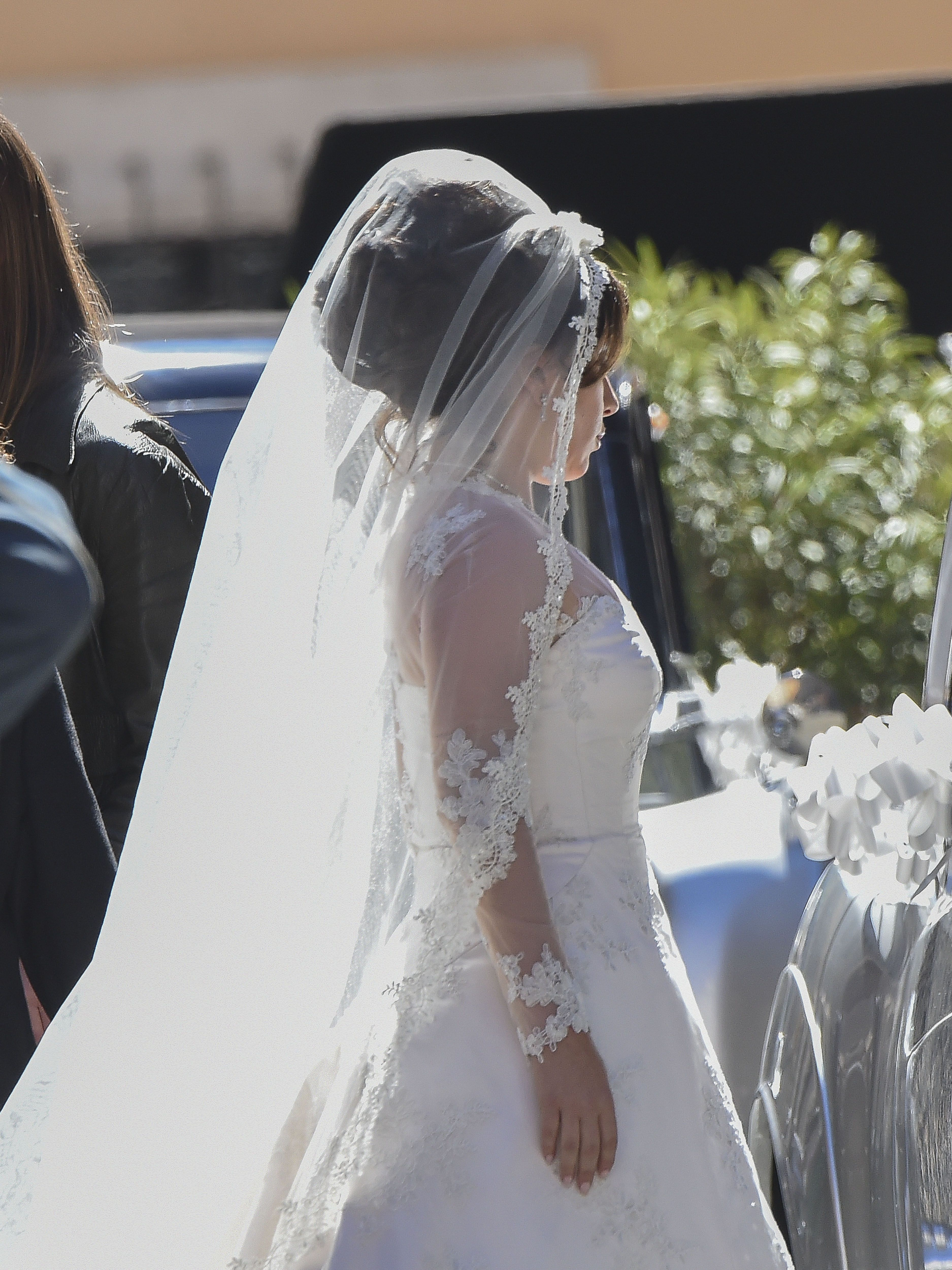 Lady Gaga Looks Stunning in a Wedding Dress While Filming 'House of Gucci'
