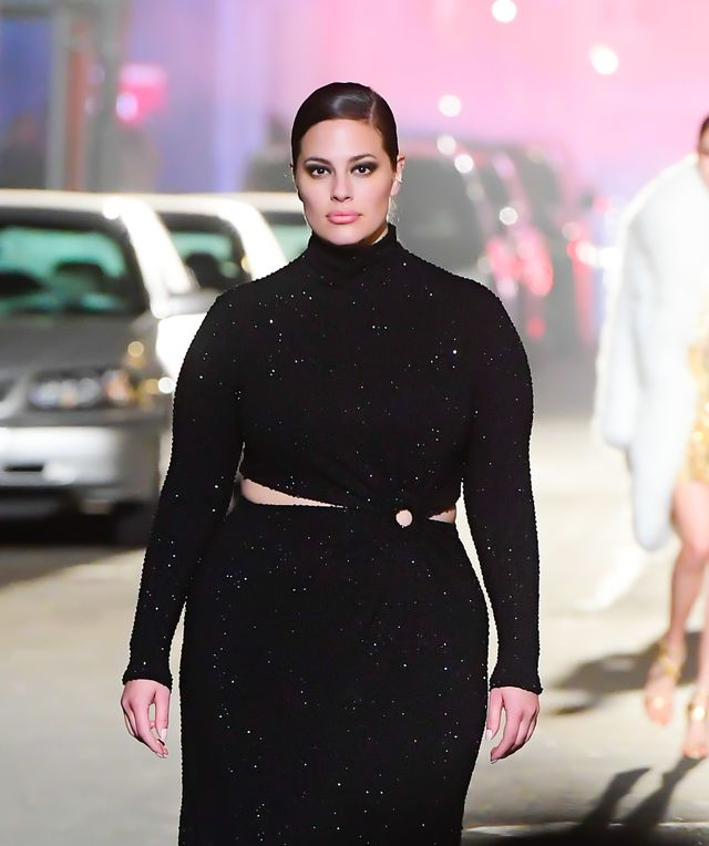 new york, ny   april 08  ashley graham walks the runway during at the michael kors fashion show at the booth theater in midtown on april 8, 2021 in new york city  photo by raymond hallgc images