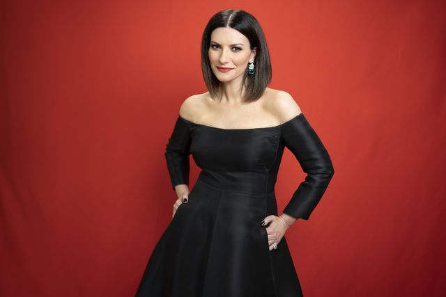 los angeles, california   april 25 laura pausini is seen in her award show look for the 93rd annual academy awards on april 25, 2021 in los angeles, california photo by silvia pausiniprc gentemusic via getty images