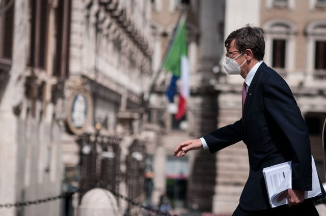 minister for technological innovation and digital transition vittorio colao, of mario draghis government during the chambers discussion of the recovery plan  on april 26, 2021 in rome, italy photo by andrea ronchininurphoto via getty images