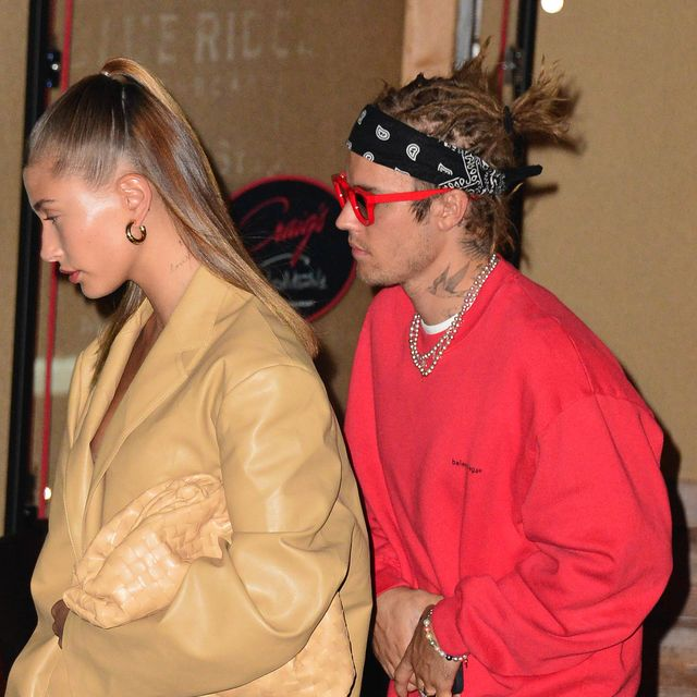 los angeles, ca   may 03  hailey baldwin and justin bieber are seen on may 3, 2021 in los angeles, california  photo by hollywood to youstar maxgc images