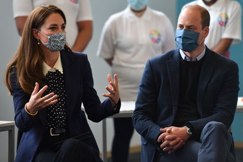 britains prince william, duke of cambridge and britains catherine, duchess of cambridge speak to children during a mental health and wellbeing session as they visit the way youth zone in wolverhampton, central england on may 13, 2021 photo by jacob king  pool  afp photo by jacob kingpoolafp via getty images
