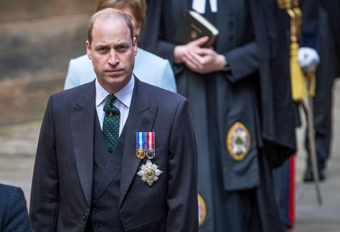 edinburgh, scotland   may 22 prince william, the duke of cambridge arrives for the opening ceremony of the general assembly of the church of scotland and to give a speech in his role as the lord high commissioner to to the general assembly of the church of scotland, on may 22, 2021 in edinburgh, scotland photo by jane barlow   wpa poolgetty images