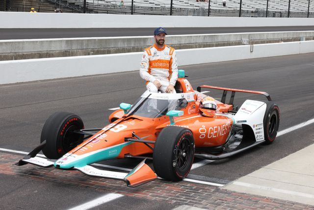 indianapolis, in   may 22 ntt indy car series driver james hinchcliffe 29 poses for a photo after qualifying for the 105th running of the indianapolis 500 on may 22, 2021 at the indianapolis motor speedway in indianapolis, indiana photo by brian spurlockicon sportswire via getty images