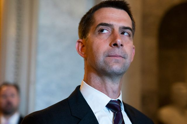 united states   may 26 sen tom cotton, r ark, is seen in the capitol during a vote on wednesday, may 26, 2021 photo by tom williamscq roll call, inc via getty images