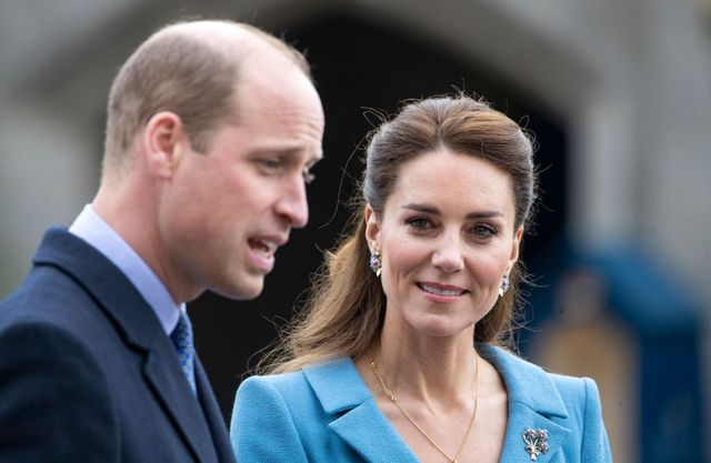 edinburgh, scotland   may 27 prince william, duke of cambridge and catherine, duchess of cambridge attend a beating of the retreat at the palace of holyroodhouse on may 27, 2021 in edinburgh, scotland photo by jane barlow wpa poolgetty images