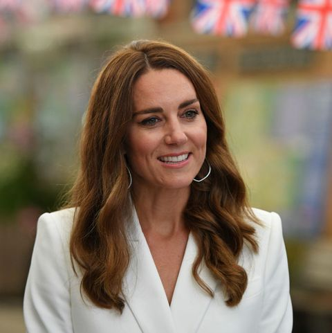 st austell, england   june 11 catherine, duchess of cambridge attends an event with queen elizabeth ii in celebration of the big lunch initiative at the eden project during the g7 summit on june 11, 2021 in st austell, cornwall, england uk prime minister, boris johnson, hosts leaders from the usa, japan, germany, france, italy and canada at the g7 summit this year the uk has invited india, south africa, and south korea to attend the leaders summit as guest countries as well as the eu photo by oli scarff   wpa pool  getty images