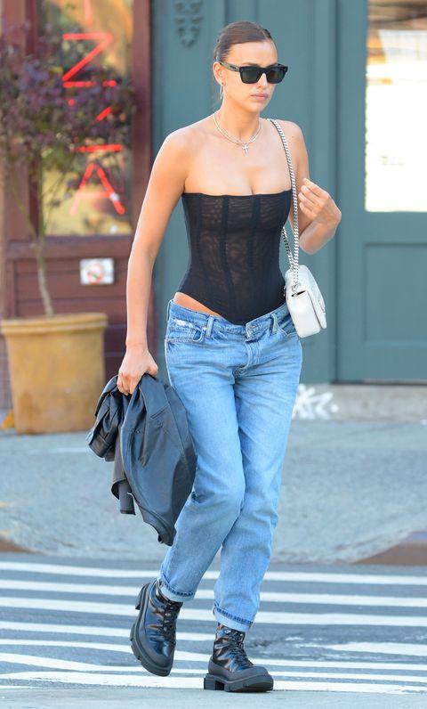 irina shayk lowrise jeans