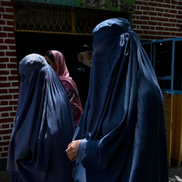 burqa clad women visit the kabul zoological park in kabul on june 26, 2021 photo by adek berry  afp photo by adek berryafp via getty images