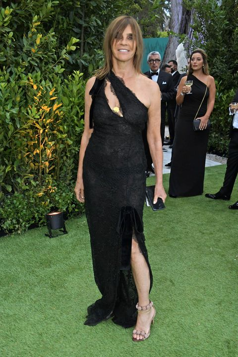 cap dantibes, france   july 16   carine roitfeld attends the amfar cannes gala 2021 at villa eilenroc on july 16, 2021 in cap dantibes, france  photo by david m benettdave benettgetty images for amfar