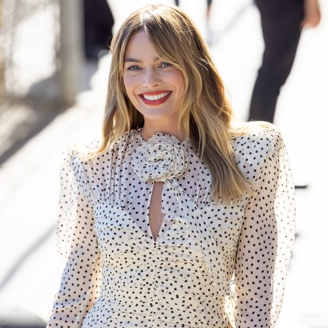 los angeles, ca   july 21 margot robbie is seen at jimmy kimmel live on july 21, 2021 in los angeles, california  photo by rbbauer griffingc images