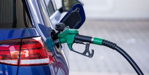 production   27 july 2021, mecklenburg western pomerania, schwerin the pump nozzle for super fuel is stuck in the filler neck of a car at a petrol station the federal statistical office announces the inflation rate for july 2021 on 29072021 photo jens büttnerdpa zentralbilddpa photo by jens büttnerpicture alliance via getty images