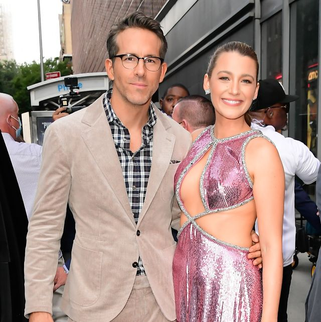 new york, ny   august 03  blake lively and ryan reynolds are seen in midtown  on august 3, 2021 in new york city  photo by raymond hallgc images
