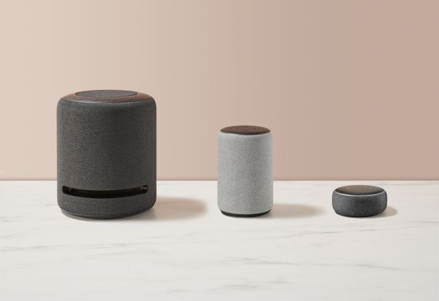 a group of amazon echo smart speakers, including echo studio, echo and echo dot models, taken on september 24, 2020 photo by neil godwinfuture publishing via getty images