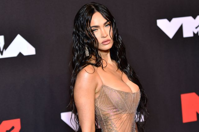 us actress megan fox arrives for the 2021 mtv video music awards at barclays center in brooklyn, new york, september 12, 2021 photo by angela weiss  afp photo by angela weissafp via getty images